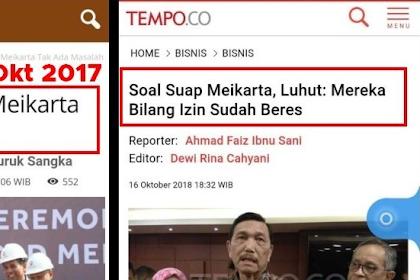 Skandal Meikarta, Luhut Dibohongi? Apa Bedanya dengan Prabowo CS yang Dibohongi Ratna? Kenapa Luhut Tidak Dilaporkan Ramai-ramai?