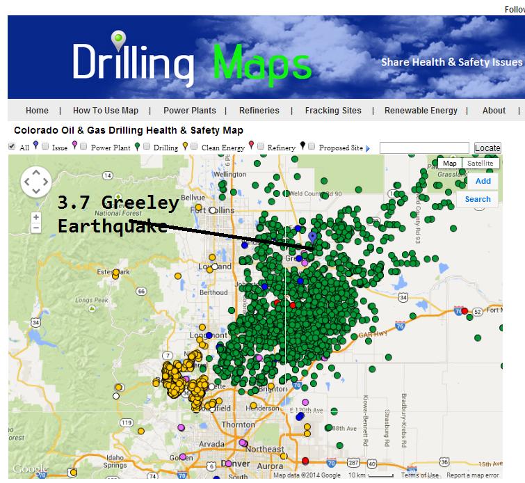 Greeley Colorado 37 Earthquake From Fracking