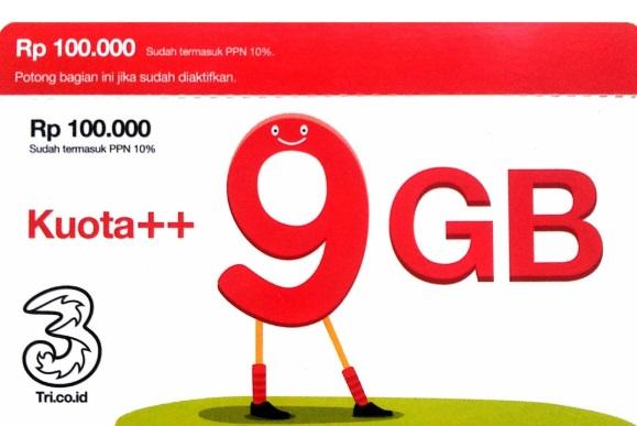 Ini Dia Voucher Kuota Data Tri Pamax 4GB 25 ribu dan 9 GB 40 ribu Termurah 2019