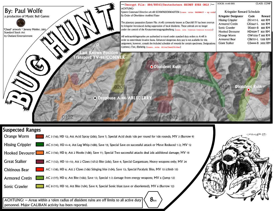 Bug Hunt -- One-Page Sci-Fi Adventure