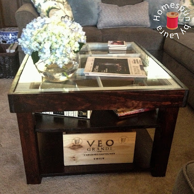 DIY repurposed window coffee table After