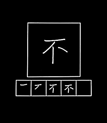 kanji tidak