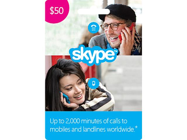 Skype $50 Prepaid Credit for