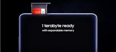 ذاكرة Galaxy Note 9