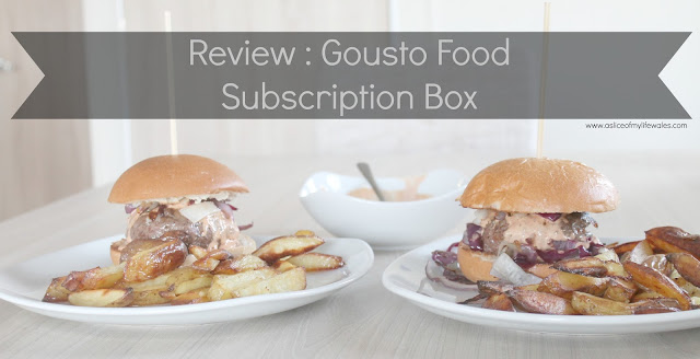 blog review of gousto food subscription box header image