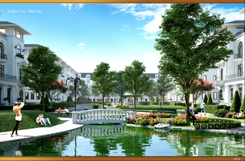 Cảnh quan dự án Louis City Hoàng Mai