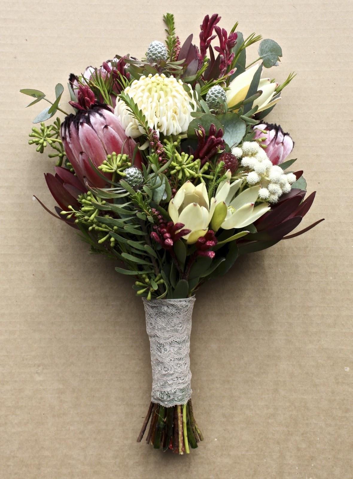 Bridal Flowers Blue Mountains : Swallows nest farm waratah wedding bouquets