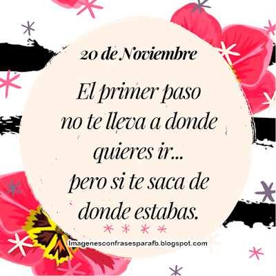 Frase del Día 20 de Noviembre