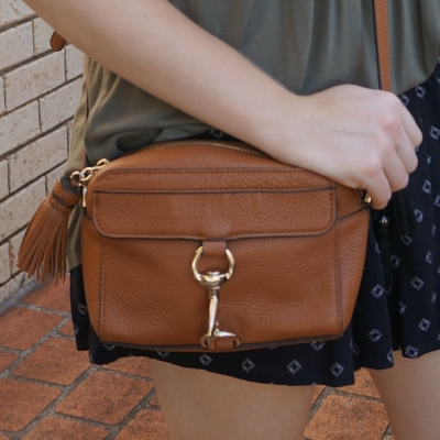 Rebecca Minkoff MAB Camera Bag in almond | awayfromtheblue