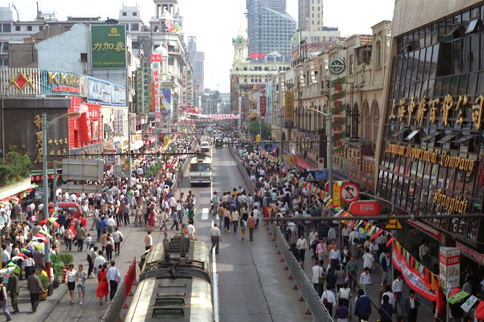 Shanghai, rue de Nankin, © L. Gigout, 1990