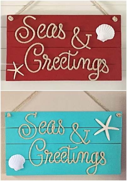 Seas and Greetings Rope Signs