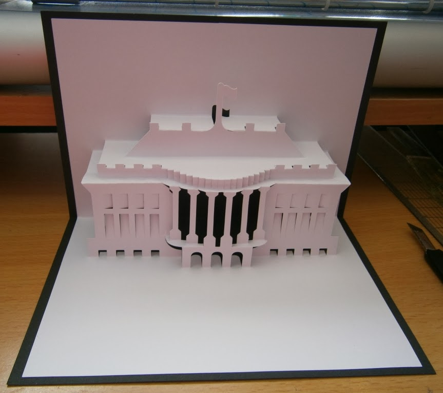 pop up card house architectural designs
