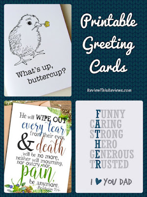 These printable greeting cards are on high-resolution downloadable files that you can print at home. Easy DIY last-minute gift idea.