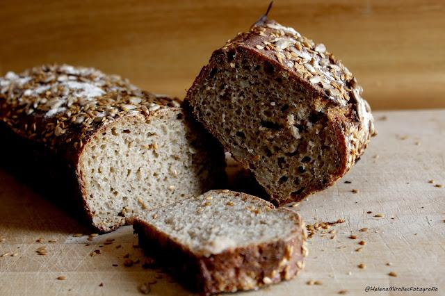 centeno, pan sin amasado