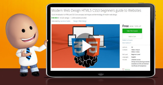 [100% Off] Modern Web Design HTML5 CSS3 beginners guide to Websites| Worth 150$