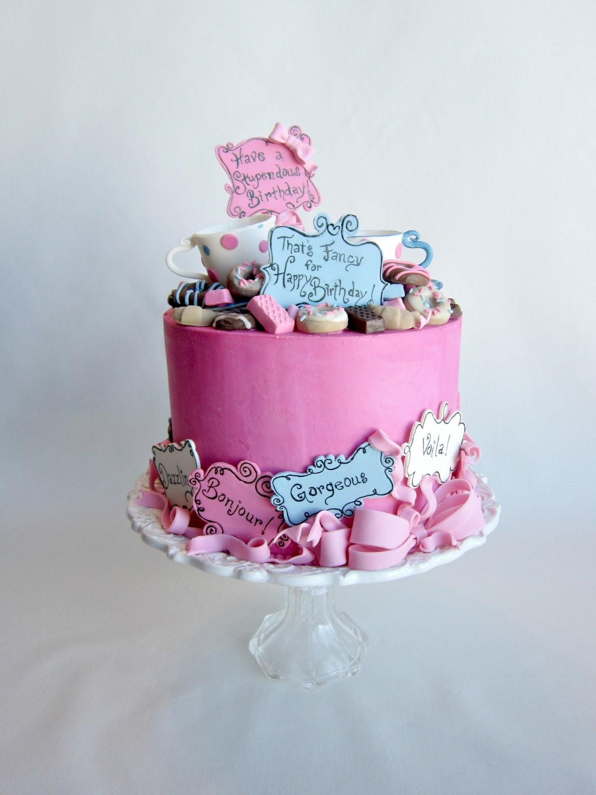 Fancy Strawberry Cakes