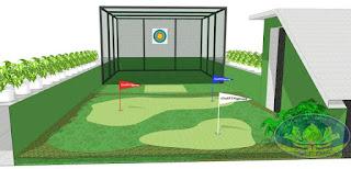 Dịch vụ thiết kế thi công sân golf mini trên sân thượng