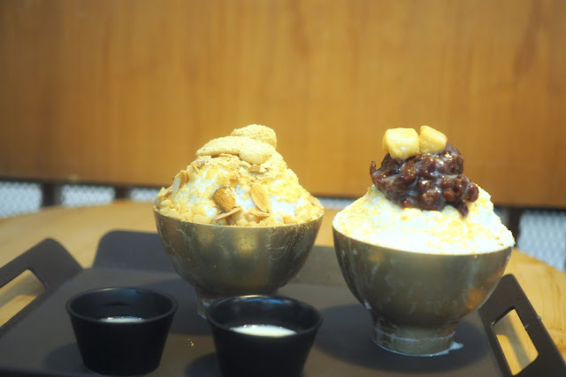 Nunsaram injeolmi bingsu (인절미빙수) and pat bingsu (팥빙수) Review Singapore