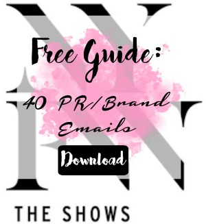 5 Tips for NYFW + Freebie