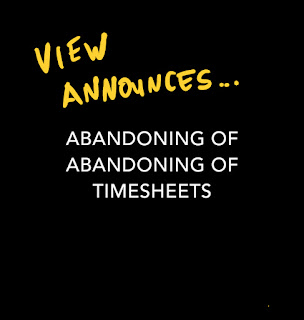 View blog Your sex is on your timesheet as View announces abandoning of abandoning of timesheets by Matthew Burgess