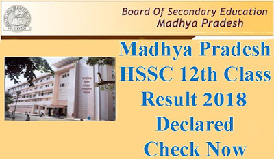 Madhya Pradesh 12th Class Result 2018