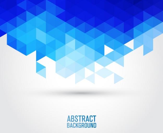 Fondo Vector Azul Geométrico