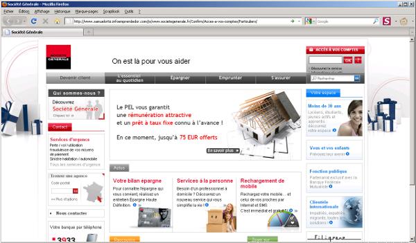 cert societe generale comment d tecter un site de phishing. Black Bedroom Furniture Sets. Home Design Ideas