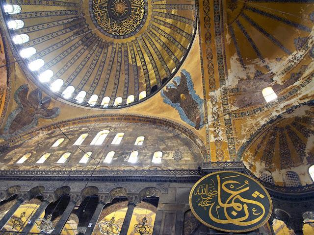 Santa Sofía, vista del interior de la cúpula