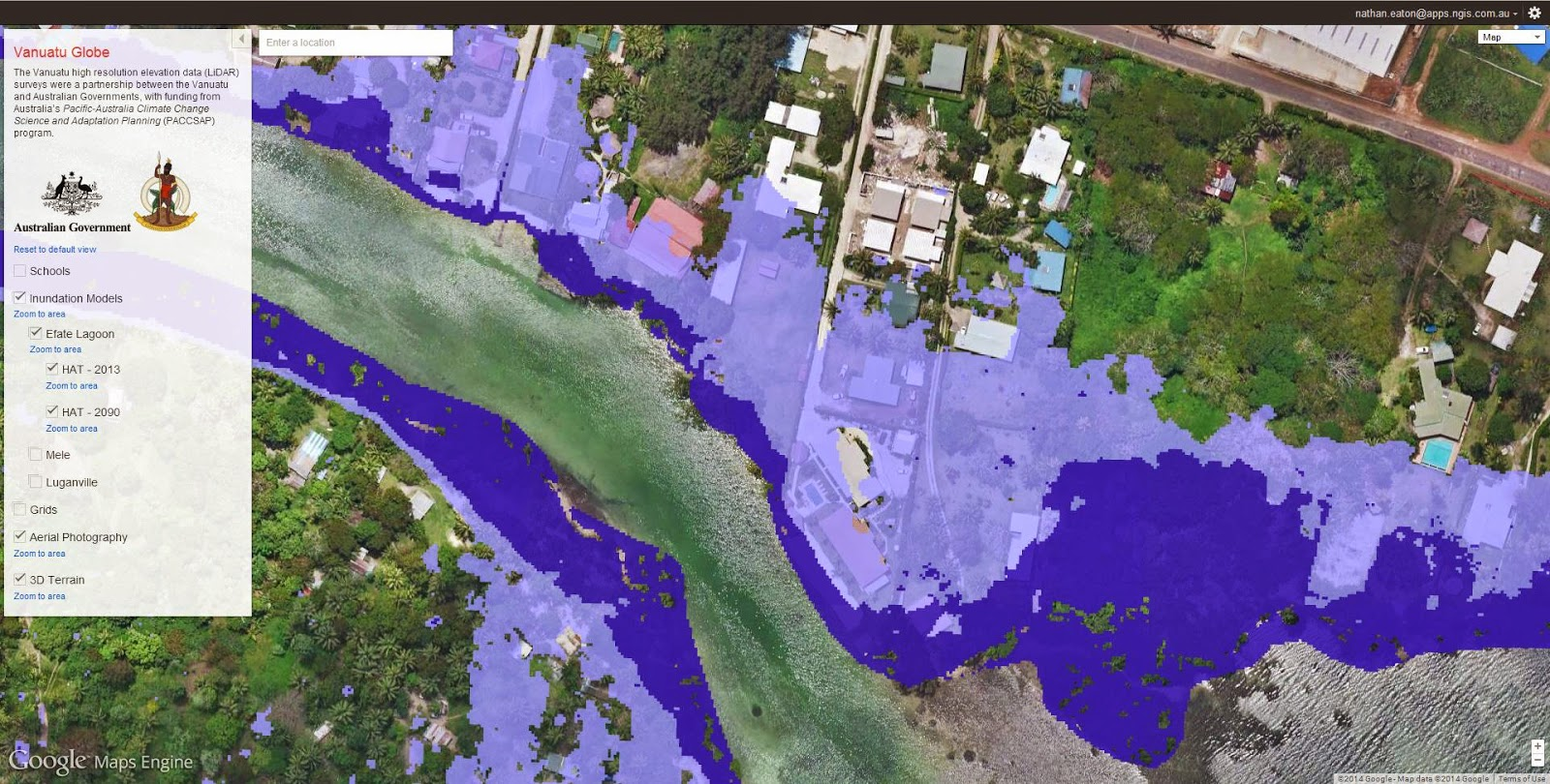 Google Lat Long Helping Our Communities Adapt To Climate Change - Google maps sea level