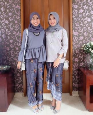 Desain rok batik pesta modern casual