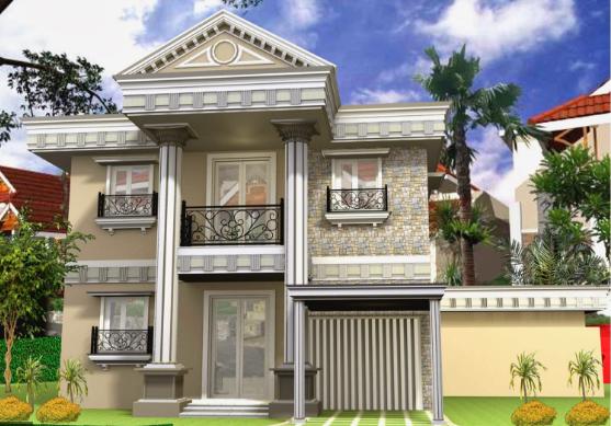 Desain dan bentuk Rumah Elegan dengan Konsep a la Eropa Timur