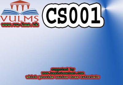 CS001 finalterm solved past paper megafile by reference