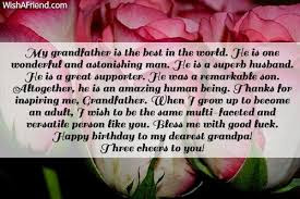 Happy Birthday wishes for grandfather: my grandfather is the best in the world
