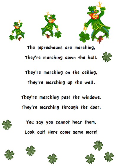 St. Patrick's Day poem for first grade. Includes a cloze and scramble. Free! Also included is a link to lots more fun and free activities. #stpatricksdayforkids #stpatricksday #leprechaunpoem #stpatricksdaypoem #gradeonederful