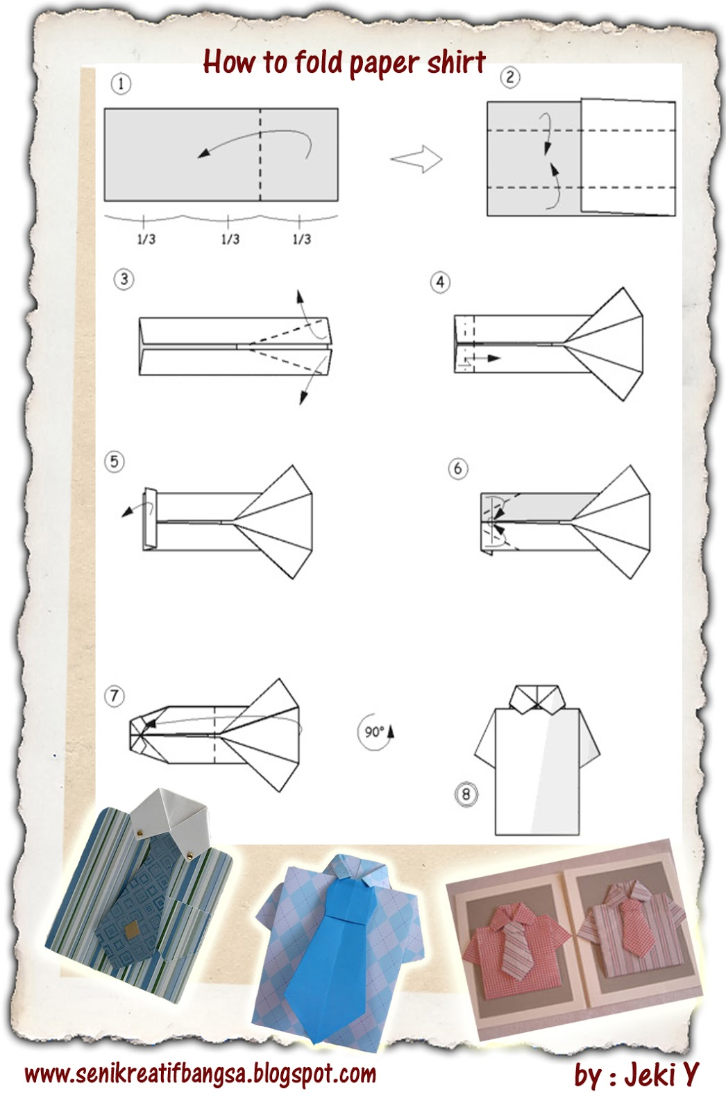 Creative Art / Seni Kreatif: How to.../CARA Origami / DIAGRAM - photo#37
