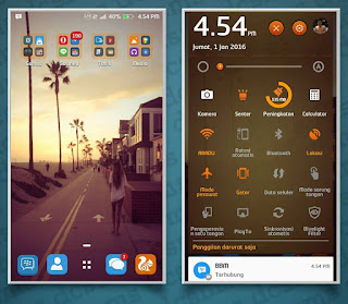 Tema Android Themes Asus Zenfone 5 Orange Miui