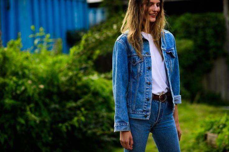 Tilda Lindstam's Best Denim Street Style Looks