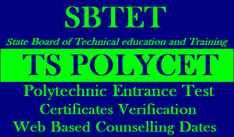 TS POLYCET 2019 Certificates Verification,Web based Counselling Dates/2019/01/ts-polycet-admissions-certificates-verification-web-based-councelling-notification.html