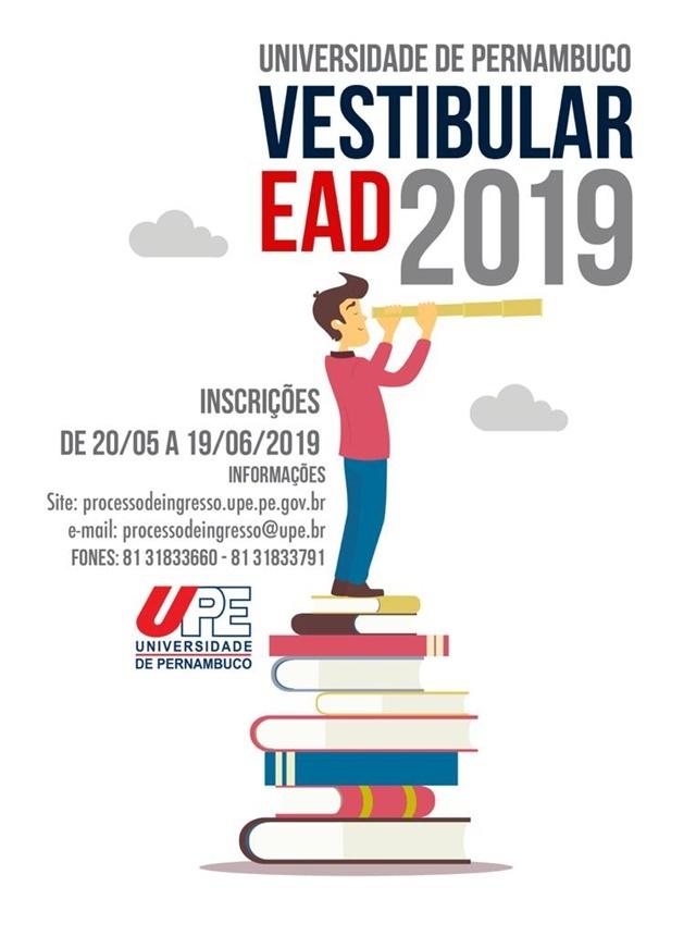 Estão abertas as inscrições para o vestibular EAD 2019 da UPE
