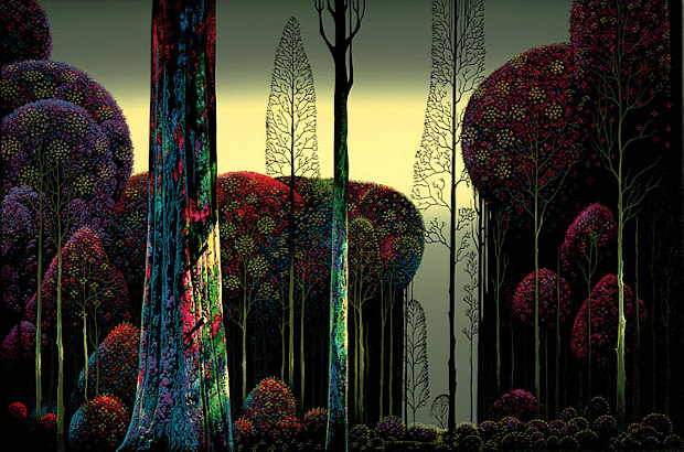 Eyvind Earle Gothic Forest