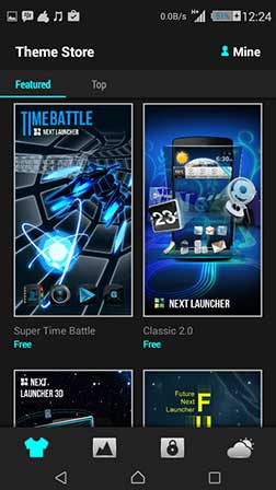 next launcher 3d shell full type