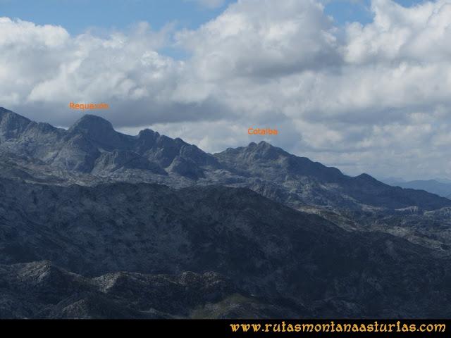 Ruta al Cabezo Llerosos desde La Molina: Vista del Requexón y Cotalba desde el Cabezo Llerosos