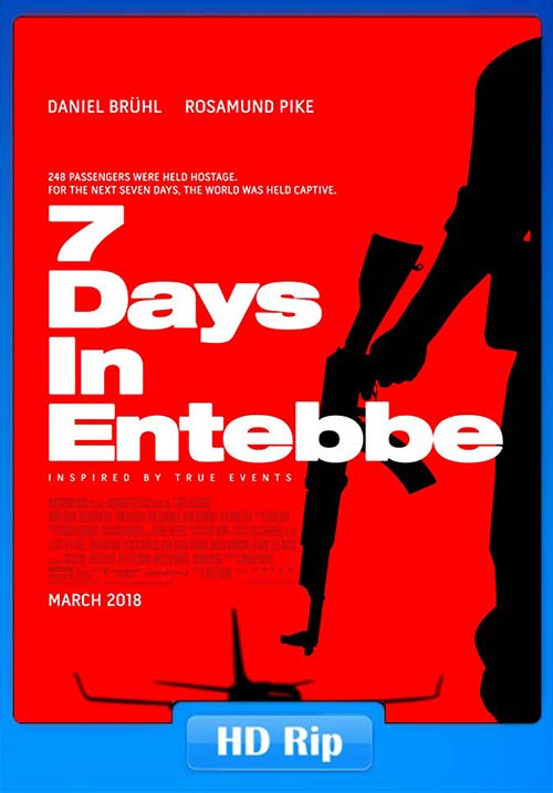 7 Days in Entebbe 2018 English HDRip 720p | 480p 300MB x264 Poster