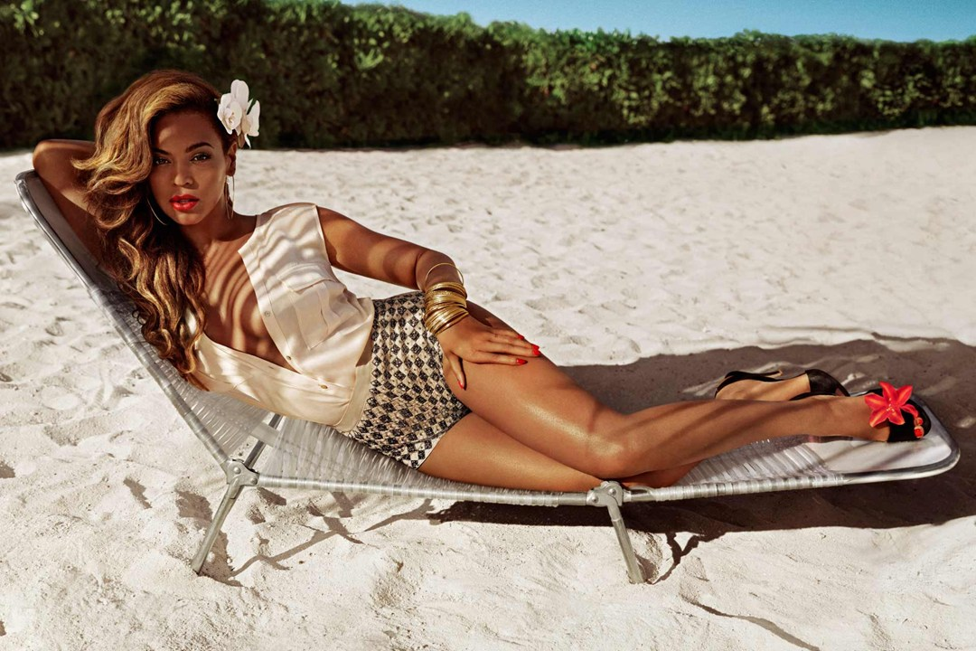 Cream 'V' Blouse & 'Diamond' Shorts,  Beyonce for H&M Summer Collection
