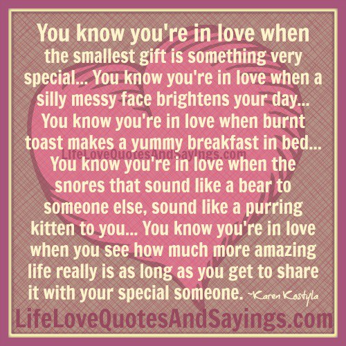 You Know You Re In Love When Quotes: Best Quotes For Your Life