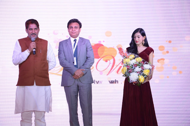 Subhash Barala(President, BJP, Haryana), Gorav Aggarwal (President Lovevivah.co), Amrita Rao