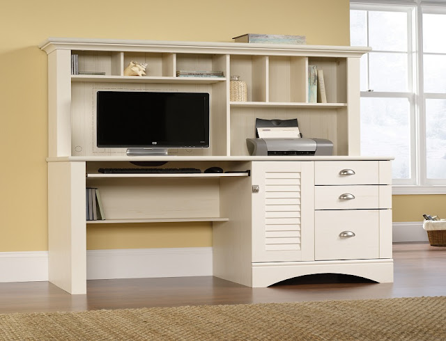 best buying Sauder white office furniture for sale cheap