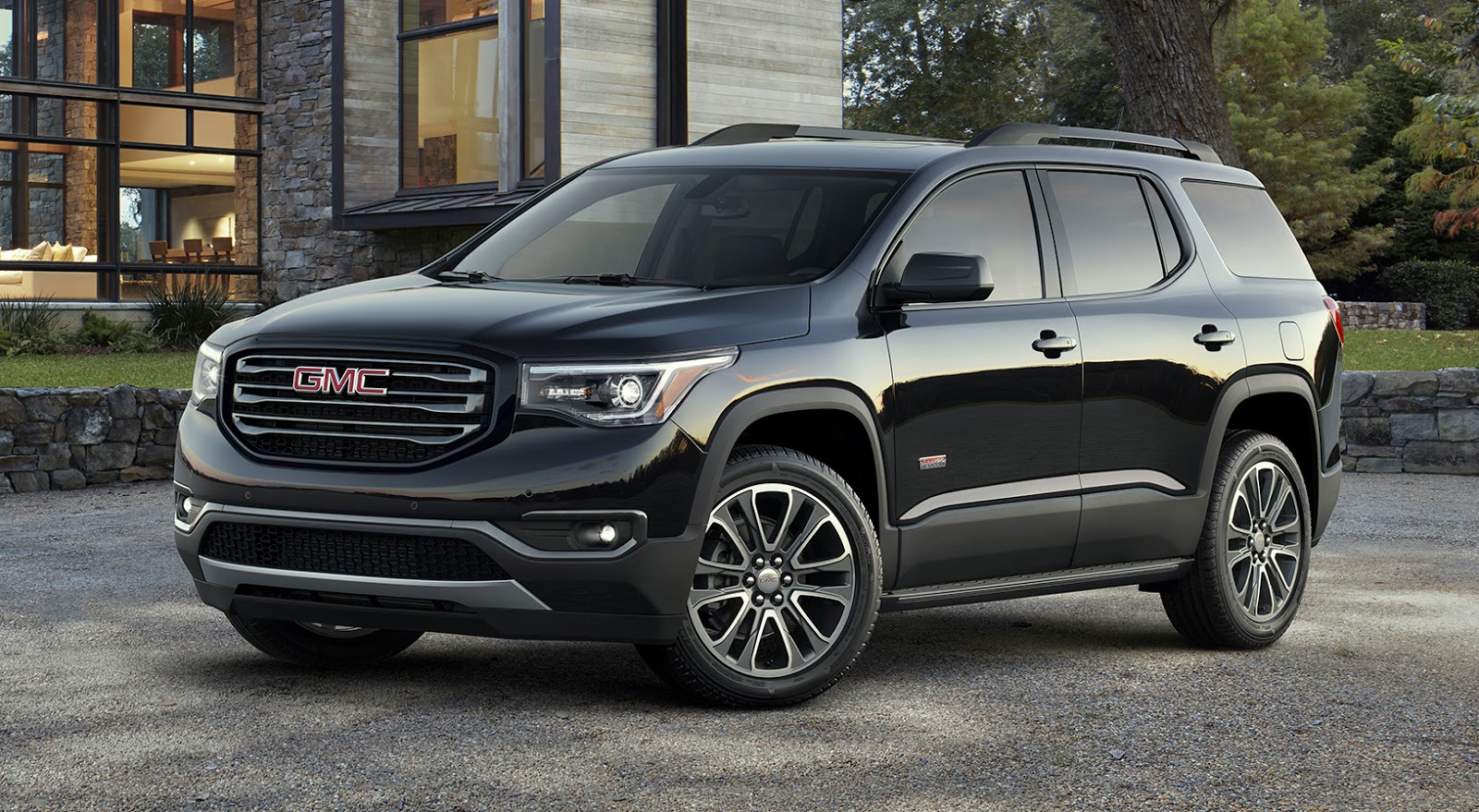 gmc debuts 2017 acadia with all new look all new size and less weight w videos. Black Bedroom Furniture Sets. Home Design Ideas