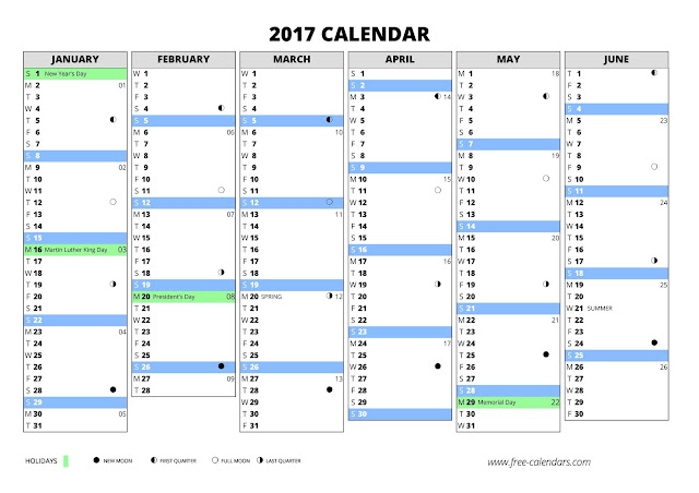 10+ Yearly Calendar 2017 Templates - Pdf Word Excel - Get