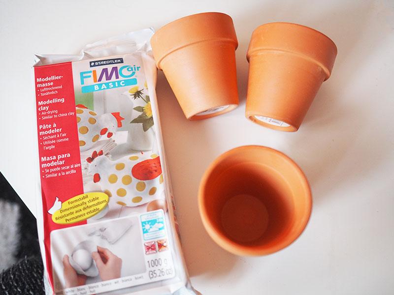 KuneCoco • DIY • Schweine Blumentopf • Material